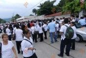 Manifestantes sector salud Veracruz