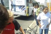 Ciclista herido eje 1 Norte