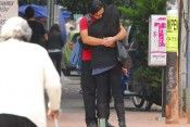 novios, enamorados, amor, beso, abrazo, RE
