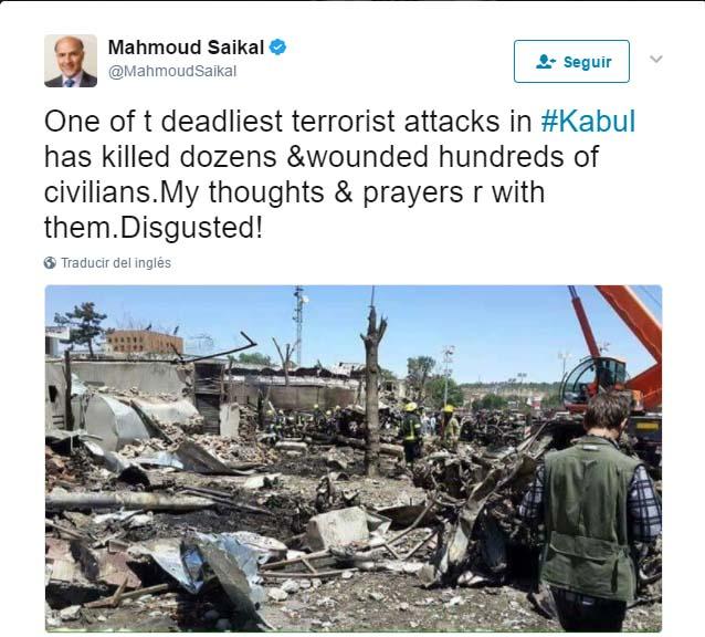 Gobierno afgano confirma 90 muertos y 463 heridos en atentado en Kabul