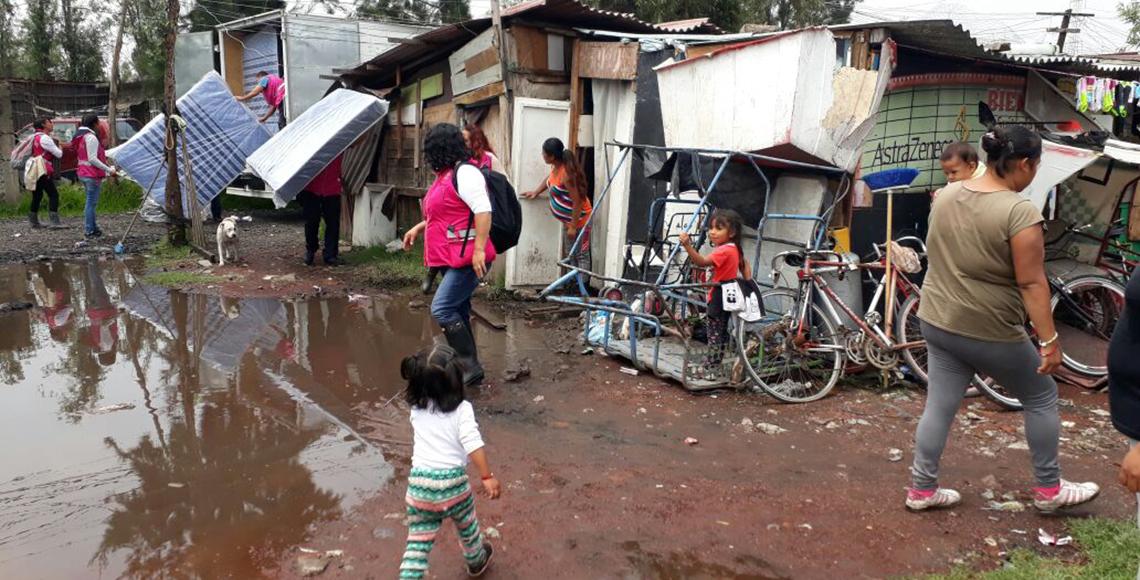 Lluvia en al menos ocho delegaciones de la Ciudad de México