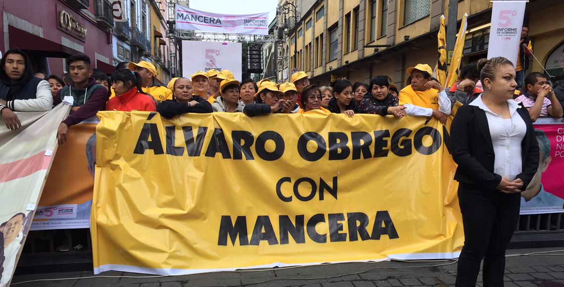 Calles del Centro Histórico cerradas por Quinto Informe de Mancera