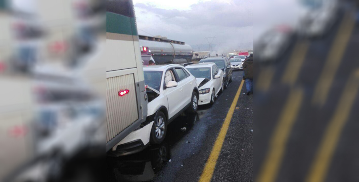 Carambola en Libramiento Toluca-Lerma deja al menos 15 heridos