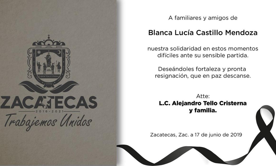 Resultado de imagen para Blanca Lucía Castillo Mendoza